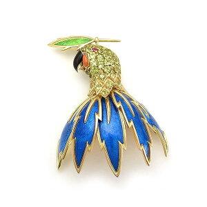 [Ломбард Midoriya] Тиффани и Ко High Jewellery Parrot Bust Gene Schlumbase Ориентировочная цена 3,88 млн иен [Использовано]