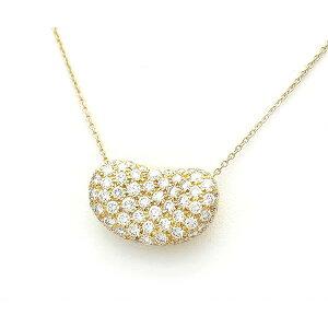 [Midoriya] Tiffany & co Bean Necklace Pave Diamond 20mm K18YG [Used]