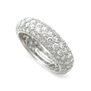 [Prêteur sur gages Midoriya] Tiffany & co Diamond Dots 4 Row Band Ring (Eternity Ring) Pt950 [Occasion]