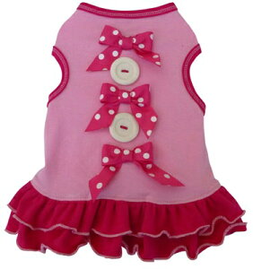 ★I See Spot/アイシースポット★Bows & Buttons Dress犬用ドレス