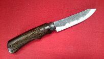 青紙スーパー手打ちナイフ105mm実用ナイフ狩猟刀・アウトドア・鍛造ナイフ