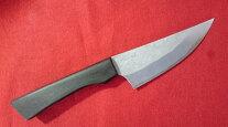 手打ちナイフ青紙スーパー鍛造80mm黒檀柄アウトドア包丁黒檀柄両刃狩猟刀