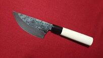 猟師さんの包丁90mm青紙スーパー両刃いのしし狩猟ナイフ解体包丁
