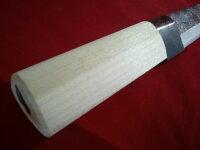 土佐打ち竹細工包丁丸型165mm竹割鉈ナイフ