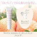 白いちご WHITE ICHIGO オーガニック テック-ハンド 30g【ハンドクリーム べたつかない ブライトニング ハンドケア 爪ケア ネイルケア 美容成分 無添加 低刺激 敏感肌】白いちごにオーガニックと機能成分を組み合わせた日本製オーガニックコスメ