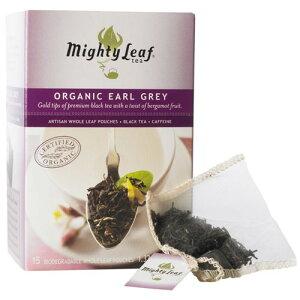 【マイティーリーフ】オーガニックアールグレイ 香り高いベルガモットで優雅な一時を 紅茶 ティーバッグ 有機JAS認定