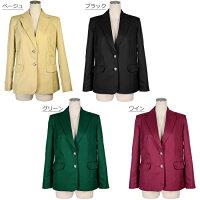 女性用ブレザーレディースジャケット3L/5Lカラー8色大きいサイズコスプレ衣装学生服制服04000374