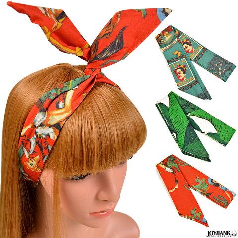 ヘアスカーフ 3color ヘアバンド 針金入り リボン バンダナ ヘアアクセサリー 髪飾り KM-845 【ゆうパケット対応:2点まで】[M便 1/2]