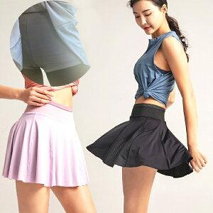 インナーパンツ 付き スカート 一分丈 ショートパンツ バレエ ダンス バレエ用品 ジム ランニング スポーツ ジョギング チアダンス ジャズダンス ポケット付き メッシュスカート ショートパンツ内蔵