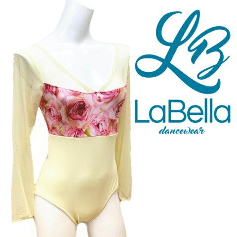 【LaBella dancewear】Rose 大人 レオタード バレエ ラベラ バレエ用品 日本初上陸!アメリカのブランドレオタード 長袖 大人レオタード レッスン 着 花柄 ローズ メッシュ