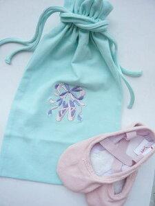 レオタードと同じ生地で作られていて、パステルカラーの刺繍が可愛いバレエシューズ入れ♪ 【...