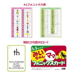 大判フォニックスフラッシュカードとフォニックス表