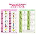【A1ポスターサイズ】みいちゃんママのフォニックスルール表(発音記号入)。子供、小学生、中学生におすすめの商品画像