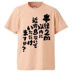 おもしろTシャツ 半径2m以内に近寄らないでいただけますか ギフト プレゼント 面白 メンズ 半袖 無地 漢字 雑貨 名言 パロディ 文字