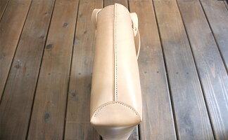 栃木レザー天然ヌメ革総手縫いのトートバッグ