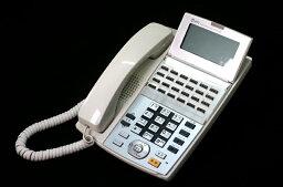【中古】NTT αNX 24ボタンスターアナログ停電電話機 白 ビジネスホン、スター配線用、停電時でもアナログ局線を利用して通話可能 NX-(24)APFSTEL-(1)(W)
