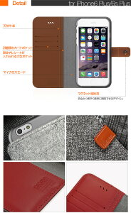 カメラ穴の無いスライド式天然素材使用ハンドメイドの高級ケースarareeiPhone6Plusレザーケースウール羊毛アイフォン6プラス手帳型ケースアイホン6カバー本革牛革アラリーおしゃれシンプルiPhoneカバー