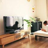 テレビ台ローボード幅150cmタモ材(ナチュラル、ブラウン)格子デザイン和風モダンデザインリビングボードテレビボード送料無料GMK-tv【特選】【ne】