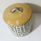 かわいい!犬の小物入れ大きめふた付き陶器キャニスターポット