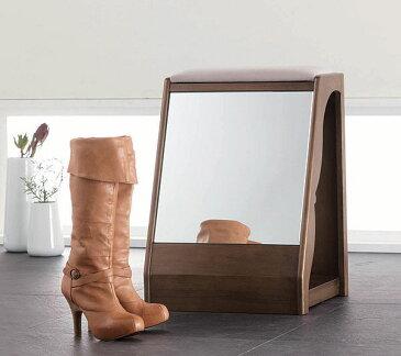 スツール ベンチチェア 椅子 玄関収納 ブーツ収納 鏡付き 玄関家具 便利 アイデア商品 人気 送料無料  【S3】【UR3】[G2]【ne】