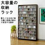 最大CD収納枚数1284枚!最大DVD収納枚数560枚!ディスプレイしながら大量収納!大容量CDラック幅109cm【送料無料】
