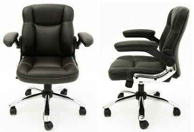 【101周年感謝祭】オフィスチェアコンパクトはね上げ式アームレザーオフィスチェアー事務椅子オフィスチェアパソコンチェアパソコンチェアーPCチェア椅子いすイスチェアー【PR1】ymso-mini【RW】yams