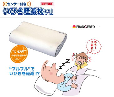 【プレミアムクーポン配布中】いびき軽減枕【フランスベッド】    【interior枕】 ベッド ベット BED