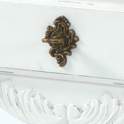 白い3段チェスト白家具輸入イタリアンカントリーフレンチカントリー白い姫系ロマンチックお姫様