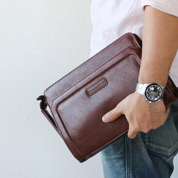セカンドバッグ ハンドバッグ メンズ 鞄 カバンセカンドバック 合皮 取っ手付き  PR2 父の日 買い替え プレゼントに bgm 【アウトレット】【QSM-100】【2D】【半額】