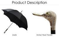 フォックスアンブレラFOXUMBRELLASメンズ雨傘雨具高級長傘GT29/DuckNICKELFINISHANIMALHEADHANDLEアニマルヘッドハンドルダックカモアヒル