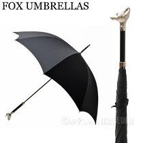 フォックスアンブレラFOXUMBRELLASメンズ雨傘雨具高級長傘GT29/GreyhoundNICKELFINISHANIMALHEADHANDLEアニマルヘッドハンドルグレイハウンド