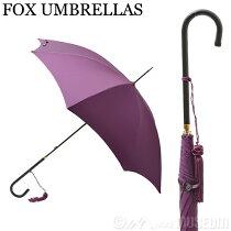 フォックスアンブレラFOXUMBRELLASレディース雨傘雨具高級長傘WL1/Aubergine480SLIMLEATHERCROOKHANDLEスリムレザークルックハンドル細革巻