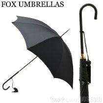 フォックスアンブレラFOXUMBRELLASレディース雨傘雨具高級長傘WL1/Black099SLIMLEATHERCROOKHANDLEスリムレザークルックハンドル細革巻