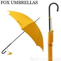 フォックスアンブレラFOXUMBRELLASレディース傘雨具長傘WL1/Yellow120スリムレザークルックハンドル細革巻#小物&アクセサリー