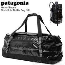 パタゴニアpatagoniaバッグブラックホールダッフル60LBlackHoleDuffel49341ボストンバッグ定番