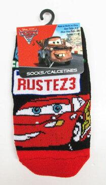 【Disney Cars / カーズ】 キッズ用ソックス・靴下『RUSTEZ3』ブラック×レッド ディズニー・アメキャラ・アメコミ・アメリカン雑貨・アメリカ雑貨・アメ雑