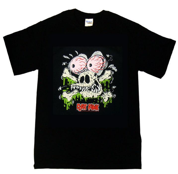 トップス, Tシャツ・カットソー  RatFink Ed Roth Skull Rats S T