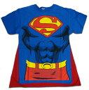 【☆アメリカ直輸入☆】◎【SUPERMAN スーパーマン】 ボディTシャツ【マント付!】