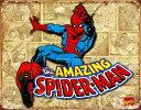 アメリカン☆◎ブリキ看板 プレート 【 SPIDER-MAN 】(スパイダーマン)【コミック柄】