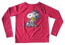 【スヌーピー/Snoopy】レディース ロングTシャツ『イルミネーション・ハグ(RE)』アメキャラ・アメリカン雑貨 ロンT
