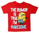 【怪盗グルーのミニオン危機一発】 キッズ・ジュニア Tシャツ『#AWESOME/4Tサイズ (RE)』ミニオン大脱走・アメキャラ・アメコミ・ミニオン・ME・ME2・MINIONS