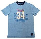【ディズニー/Disney】大人・メンズ Tシャツ 『Donald Duck・34/Sサイズ(ライトBL)』 ドナルド・ドナルドダック・アメキャラ・レトロ