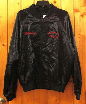 【USED】 ナイロン・スタジャン『Mt.Olive Twp.POLICE/XLサイズ (ブラック)』古着・アウター・ジャケット・メンズ