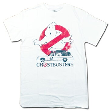 【ゴーストバスターズ/GHOST BUSTERS】大人・メンズ Tシャツ『ロゴ(WH)』アメキャラ 映画 海外