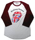 【ローリング ストーンズ/Rolling Stones】大人・ロングTシャツ『ロゴマーク・擦れ(WH×WR)』海外バンド ロックバンド アメリカン雑貨