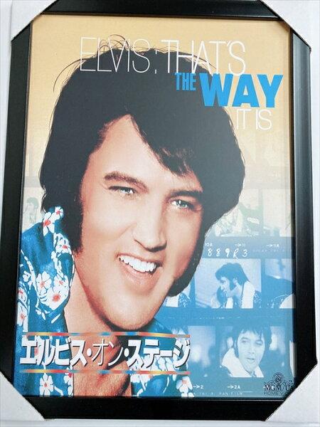ElvisAronPresley/エルヴィス・アーロン・プレスリー フレーム付ポスターミュージシャンアメリカ雑貨アメ雑アーティ