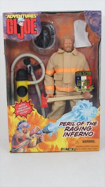 GIジョー/ADVENTURES of G.I.JOE消防士(白人男性) 35yearsミリタリーフィギュア画像