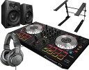 PIONEER DJコントローラーセット/DDJ-SB2 + ATH-M20X + DM-40 + PCスタンド【送料無料】