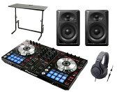 PIONEER DJコントローラーセット/DDJ-SR + ATH-M20X + DJスタンド + DM-40 スピーカー【8G USBプレゼント送料無料】