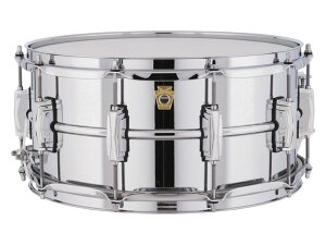 Chrome Metal Snare Smooth Shells Classic Lugs LM402